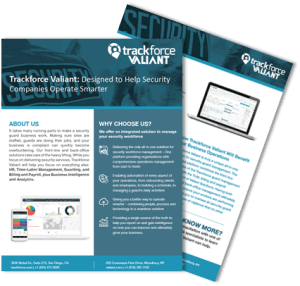 Trackforce Valiant Unified Brochure